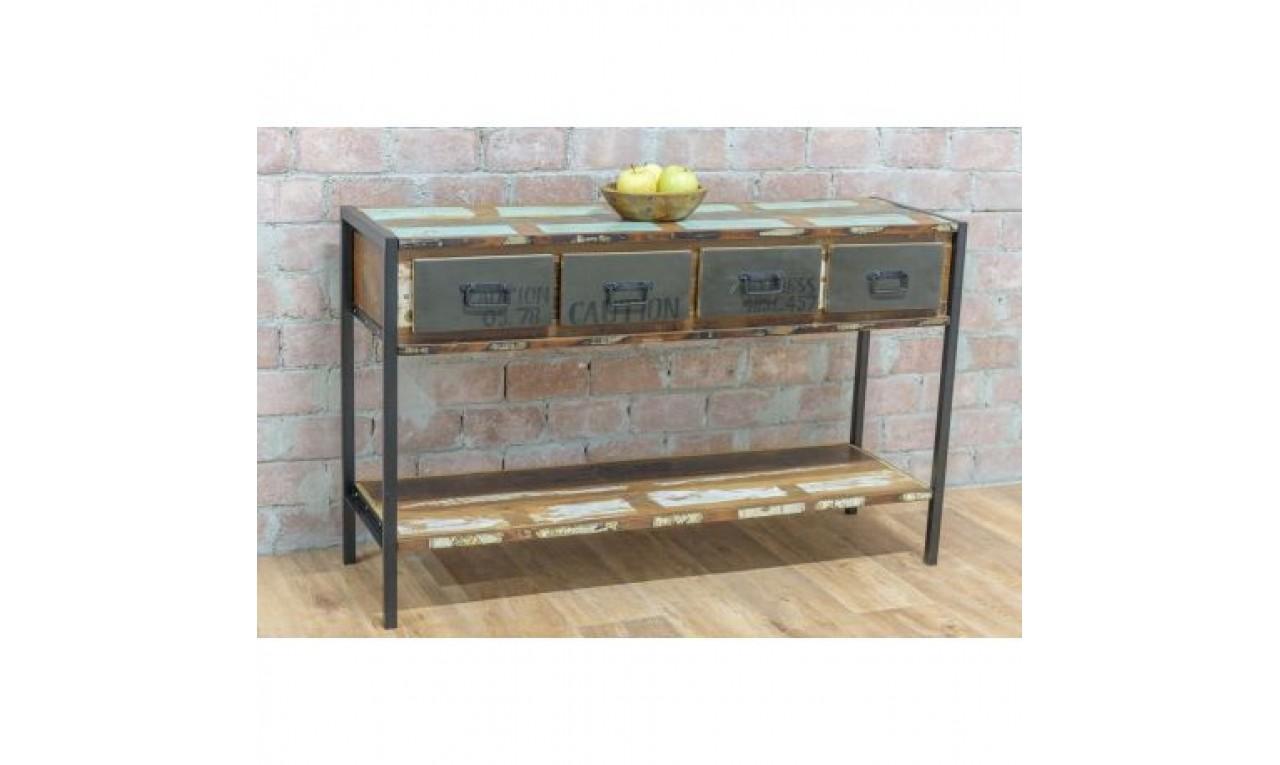 masa consola stil industrial. Black Bedroom Furniture Sets. Home Design Ideas